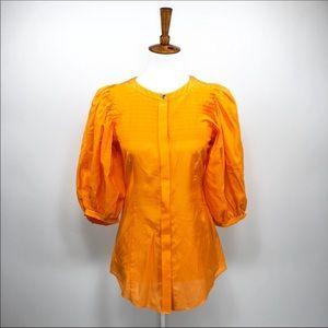 Rachel Roy Button Shirt Pleated Blouse A90